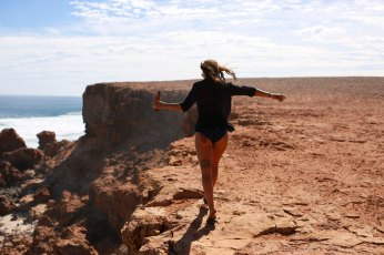 Dancing in the warm wind in beautiful places